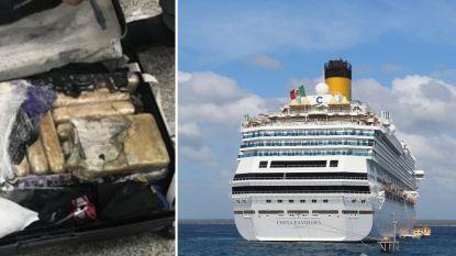 Belgen opgepakt na vondst van 300 kilo cocaïne op cruise vanuit Brazilië naar Europa