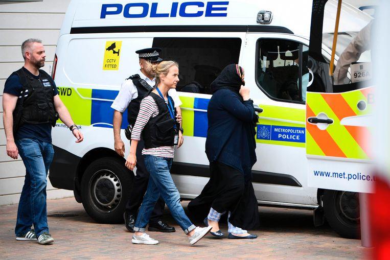 Dit was tijdens de arrestatie van gisteren, van de recente aanhoudingen zijn nog geen foto's. Beeld AFP