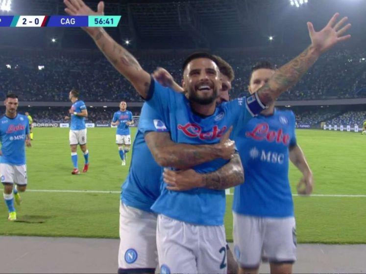 Napoli wint thuis met 2-0 van Cagliari
