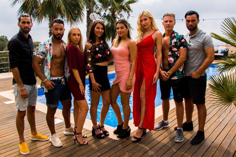 De deelnemers van de tweede aflevering van De Villa op RTL. Beeld RTL