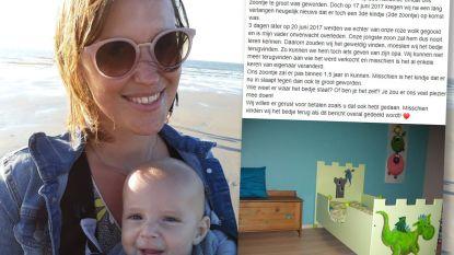 Leen zoekt kinderbedje dat haar vorig jaar overleden papa beschilderde en ze 3 jaar geleden online verkocht. Speciaal voor haar zoontje