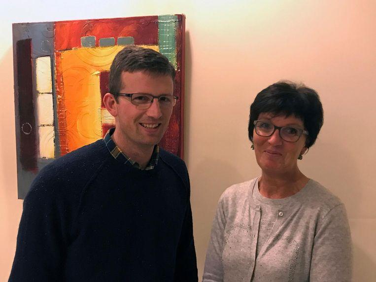 Voorzitter van vzw De Kouter Jos De Wachter en OCMW-voorzitster Diane Grauwels.