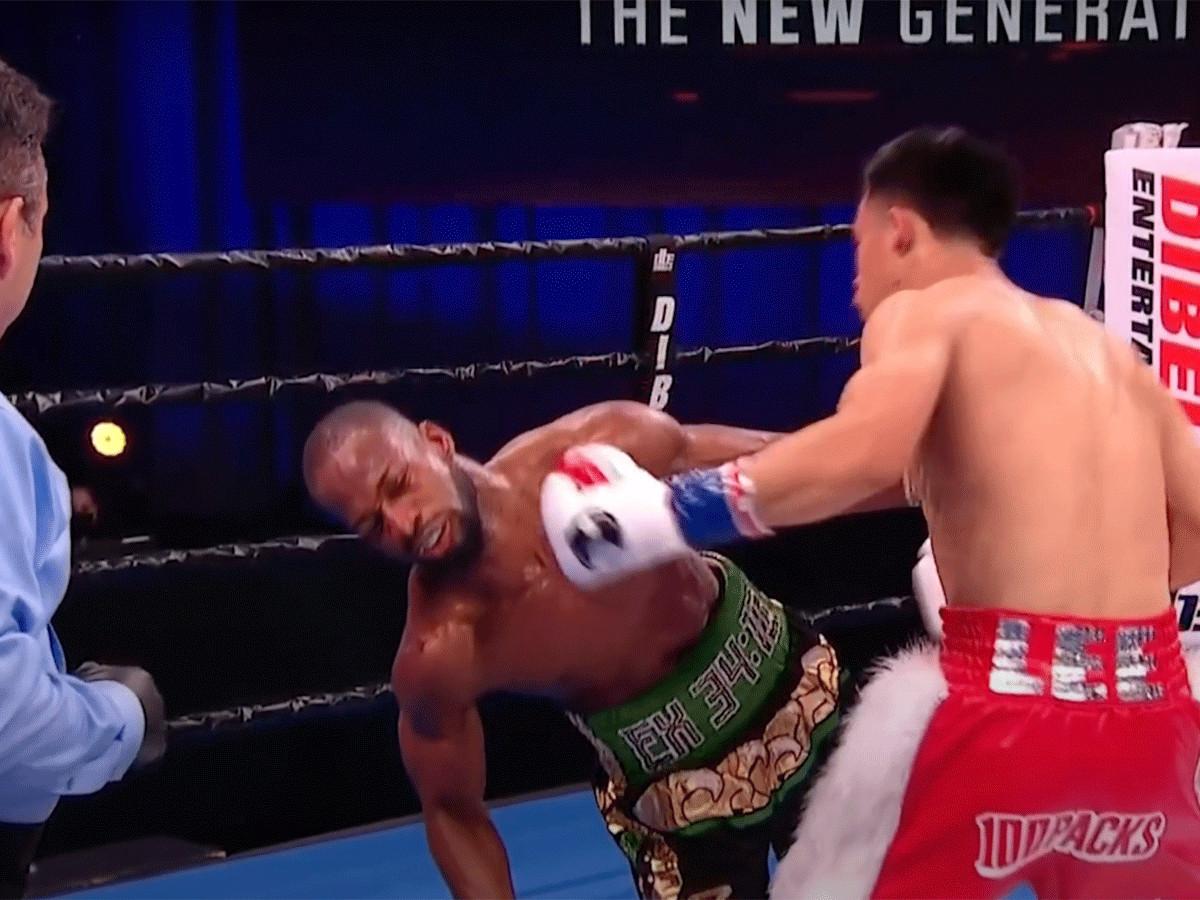 Brandun Lee slaat Samuel Teah knock-out