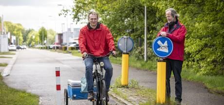 Fietsersbond is fietspaaltjes in Oldenzaal beu: 'We gaan kijken welke weg kunnen'
