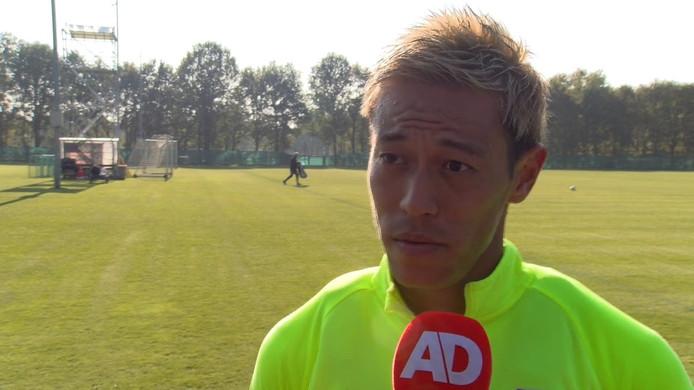 Keisuke Honda is terug in Nederland. De Japanner maakte in 2008 furore in de eredivisie bij VVV-Venlo. Hij gaat nu aan de slag bij Vitesse.