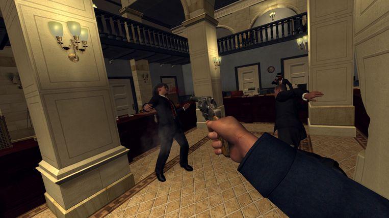 Scène uit 'L.A. Noire: The VR Case Files'. Beeld Rockstar Games