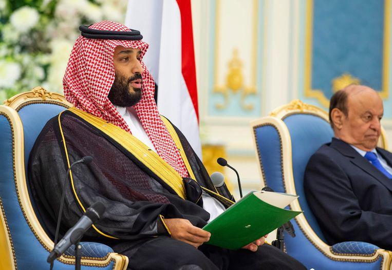 De kroonprins van Saudi-Arabië, Mohammed bin Salman, zou persoonlijk betrokken zijn bij de spionage. Beeld AP