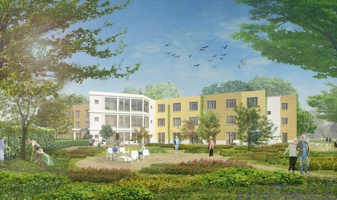 De geplande nieuwbouw in Kamp-wijk in Lindenholt. Veel te kolossaal, menen omwonenden.