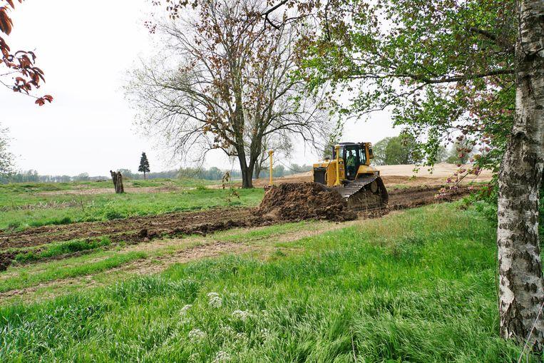 Herinrichting van natuurgebied de Loenensche Buitenpolder (2019). Beeld Hollandse Hoogte / Flip Franssen
