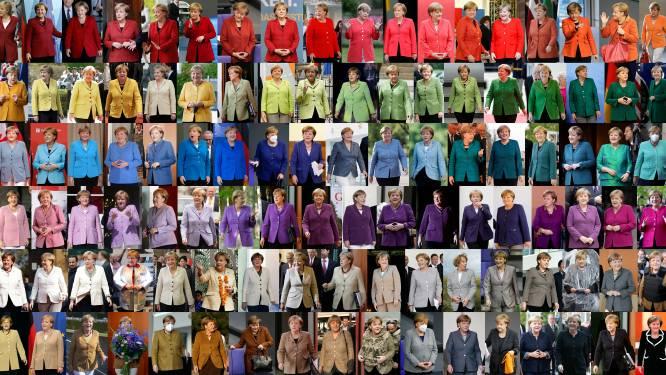 Merkel verklapt aan vooravond vertrek wat er gebeurt met haar jasjes