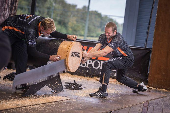 Koen Martens in actie op het Benelux-kampioenschap