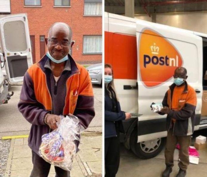 Gideon werd door zijn werkgever Post.nl uitgeroepen tot pakjesbezorger van het jaar.