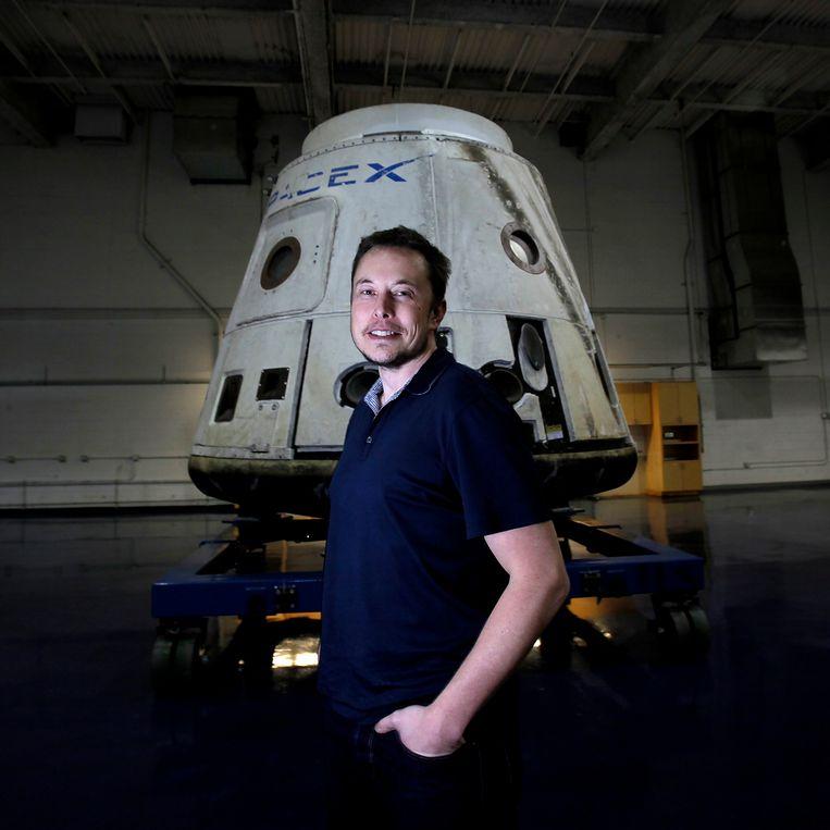 Elon Musk, CEO van SpaceX, gaf in 2013 een 'witboek' vrij over de Hyperloop-technologie. Beeld Photo News