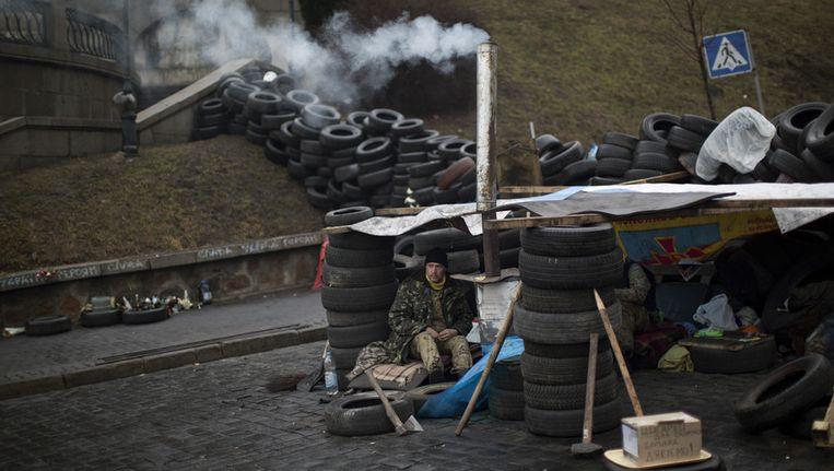 Het Onafhankelijkheidsplein in Kiev. Beeld ap