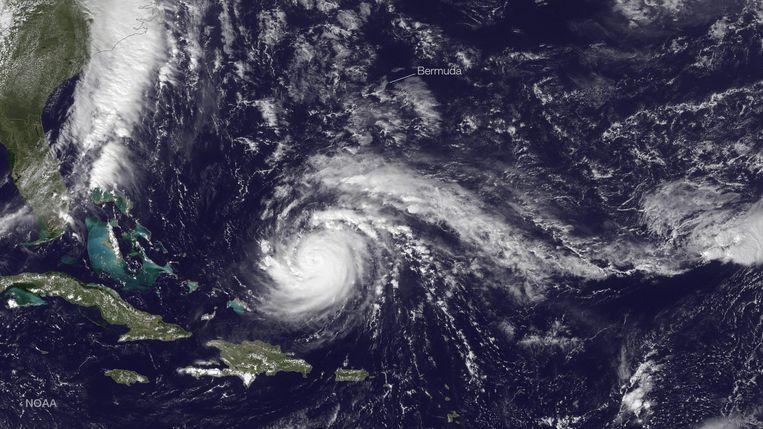 Orkaan Gonzalo boven de Atlantische Oceaan Beeld epa