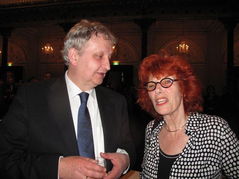 Eberhard van der Laan, niet zo stil, maar wel een kracht, samen met Ireen van Ditzhuijzen, documentairemaakster. Beeld null