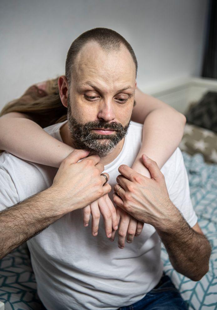 Marcel Jeninga met zijn dochter