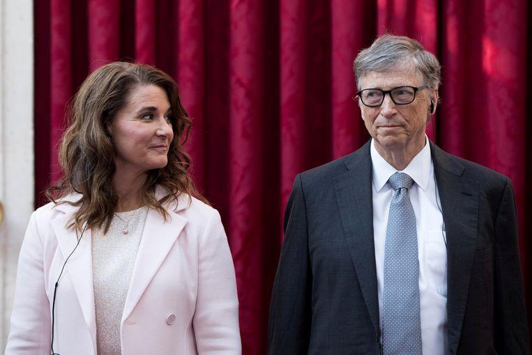 Melinda en Bill Gates, in 2017 in Parijs Beeld Kamil Zihnioglu / Reuters