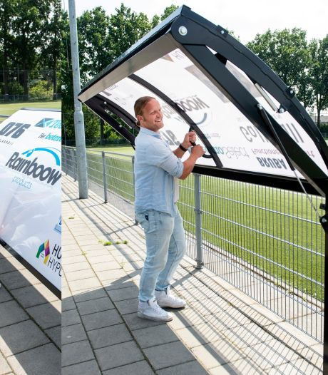 Reclamebord is ook afdakje tegen regen of zon, bedacht door oud-profvoetballer René van Dieren