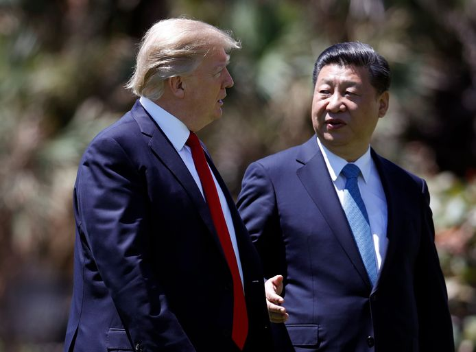 Donald Trump met Chinees president Xi Jinping.