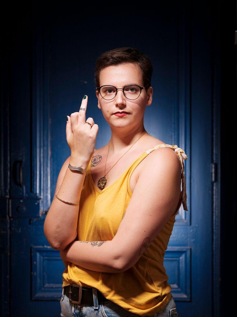 Pauline Harmange weet niet of ze nog eens voor een man zou kiezen als haar relatie uit zou gaan. Beeld Magali Delporte