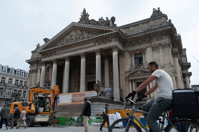Rénovation de la Bourse de Bruxelles (archives, 2020)