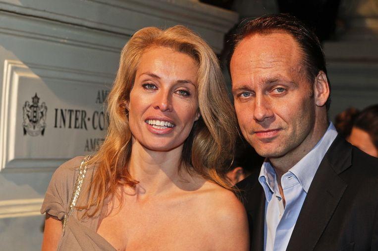 Frederique van der Wal en partner Koen van Troyen.<br /><br /> Beeld null