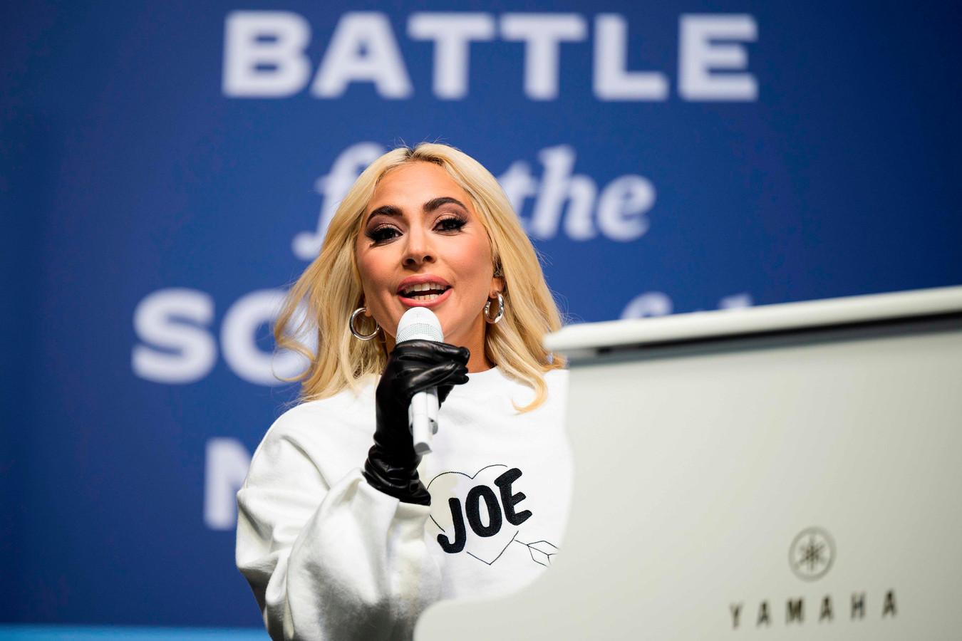 Lady Gaga avait déjà chanté lors d'un rassemblement en Pennsylvanie, le 2 novembre 2020, dans le cadre de la campagne de Joe Biden.