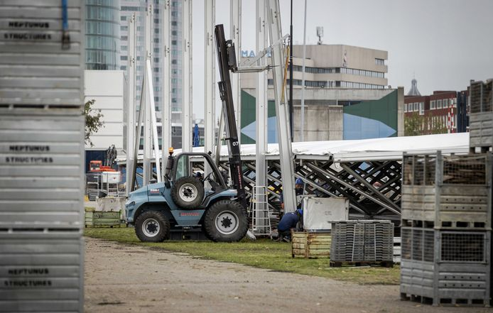 Bij de Jaarbeurs is al eerder begonnen met de bouw van een XL-teststraat.