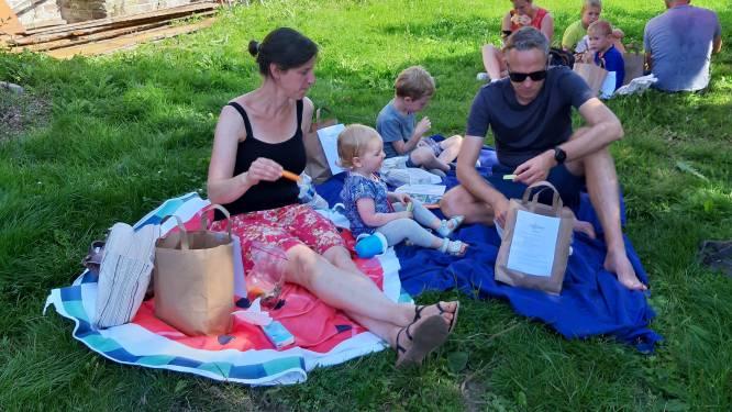 Originele Fiets-Picknick op halfoogst