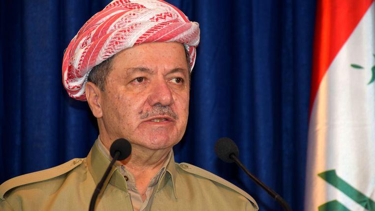 De president van Koerdistan, Masoud Barzani. Beeld getty