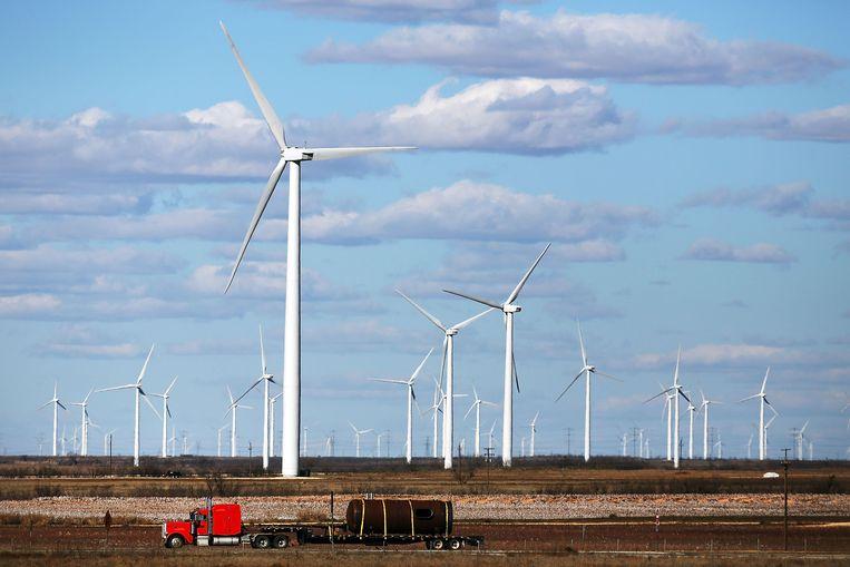 Windturbines in Texas.  Beeld Getty Images