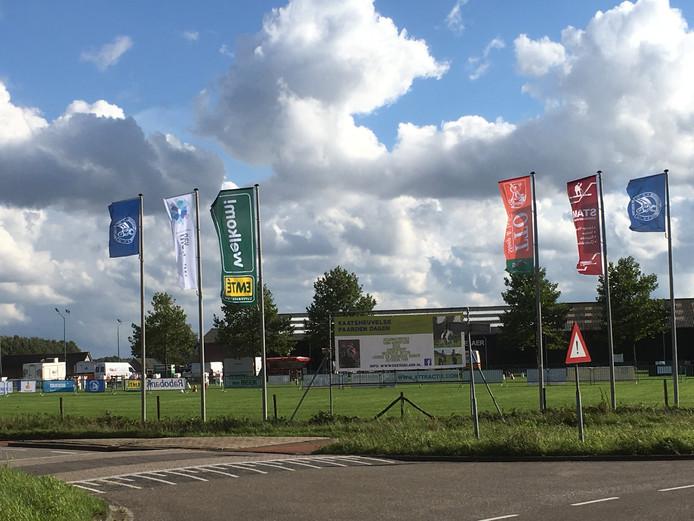 De accommodatie van Ruiter Sport Vereniging De Kegelaer op de hoek van de Baan en de Eftelingsestraat in Kaatsheuvel.