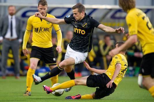 Roda JC - NAC tijdens de nacompetitie van het seizoen 2014/2015.