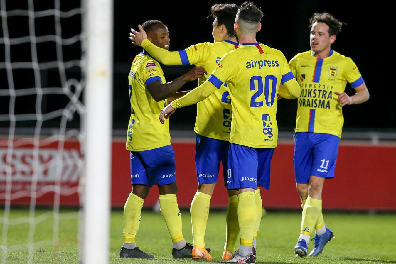 Cambuur won de uitwedstrijd tegen Jong FC Utrecht met 1-3.