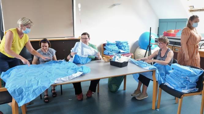 """Bewoners Schoonderhage helpen bij recyclage ASZ-sterilisatiedoeken: """"Doeken worden laptops of bloempotten"""""""
