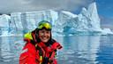 Katinka Puglia als zodiac driver op een luxe cruiseschip, afgelopen winter in Antarctica
