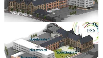 Eerste beelden van toekomstig Sint-Hubertuscollege