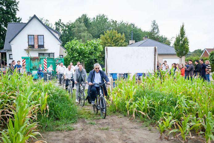 De 'Fietsen door de maïs'-route werd alvast goedgekeurd door de burgemeester.