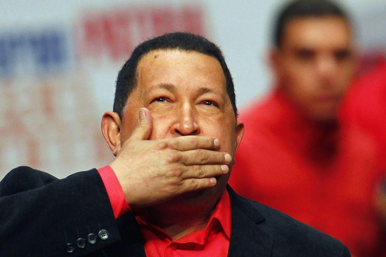 Chavez in Caracas op 23 februari 2012. Beeld REUTERS