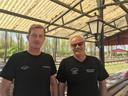 Willem  van der Houven (links) en Bas Barendrecht op het perron