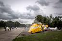 De burendag op Vliegbasis Woensdrecht bij Hoogerheide trok in 2018 zo'n 5400 mensen die onder meer een kijkje namen bij het brandweeroefenterrein.