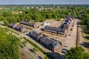 Links van het nieuwbouwplan Isabellaveld komt ook een depot voor bouwmaterialen.