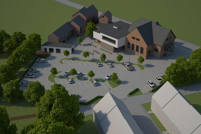 De plannen voor de buitenomgeving van het gemeentehuis en de nieuwe sociale woonwijk zijn bekend.
