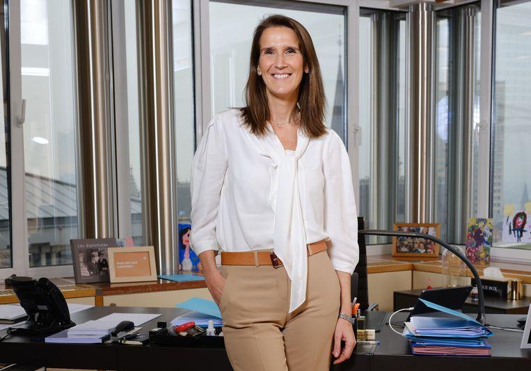 Ex-premier en huidig minister van Buitenlandse Zaken Sophie Wilmès. Beeld Vincent Duterne/Photo News