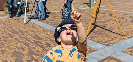 Zonsverduistering was goed te zien in Brabant: 'Net Pac-Man'