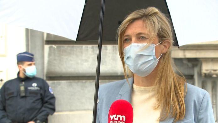 Minister van Binnenlandse Zaken Annelies Verlinden (CD&V) reageert tevreden na het Overlegcomité.
