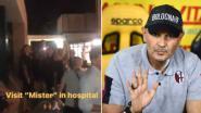 Prachtige beelden: zieke Bologna-coach inspireert via telefoon tot comeback, spelers trekken na duel naar hospitaal
