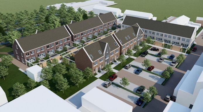 Het plan voor het terrein van De Wipmolen aan de Zeevaartschoollaan in Alblasserdam.