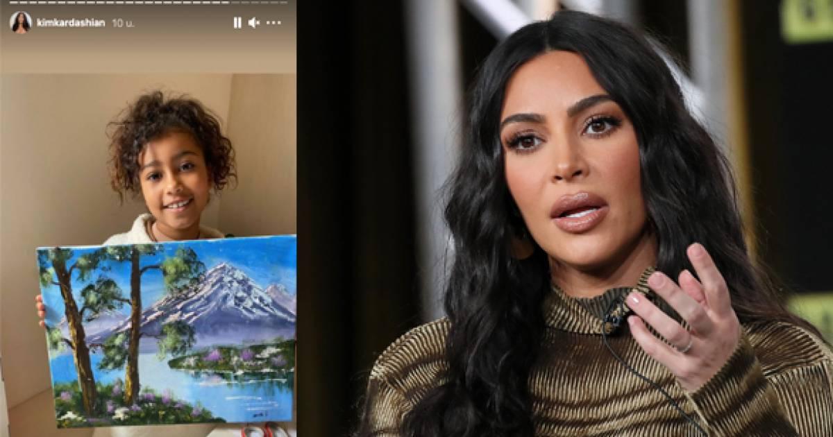 """Kim Kardashian furieuse face aux critiques sur une peinture de sa fille: """"Comment osez-vous?"""" - 7sur7"""